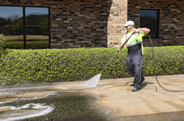 commercial concrete cleaning in mckinney